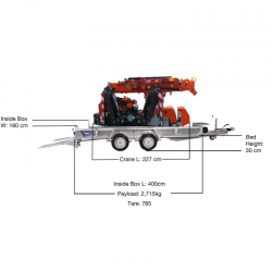 Jekko SPX 424 Crane Beavertail Trailer