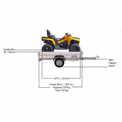outlander max ATV small box trailer
