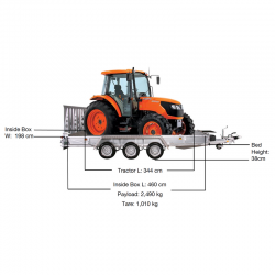 Kubota M6040 and M7040 Tractor Machine transporter Trailer